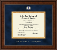 John Jay College of Criminal Justice Diploma Frame - Presidential Masterpiece Diploma Frame in Madison