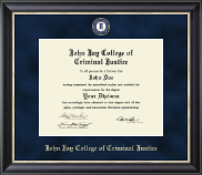 John Jay College of Criminal Justice Diploma Frame - Regal Edition Diploma Frame in Noir