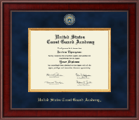 United States Coast Guard Academy Diploma Frame - Presidential Masterpiece Diploma Frame in Jefferson