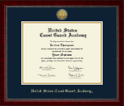 United States Coast Guard Academy Diploma Frame - Gold Engraved Medallion Diploma Frame in Sutton