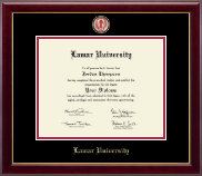 Lamar University Diploma Frame - Masterpiece Medallion Diploma Frame in Gallery