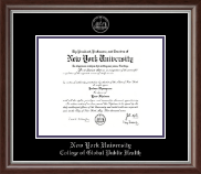 New York University Diploma Frame - Silver Embossed Diploma Frame in Devonshire