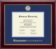 Simmons University Diploma Frame - Masterpiece Medallion Diploma Frame in Gallery