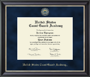 United States Coast Guard Academy Diploma Frame - Regal Edition Diploma Frame in Noir
