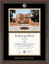 University of Florida Diploma Frame - Campus Scene Masterpiece Diploma Frame in Chateau