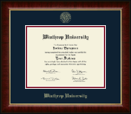 Winthrop University Diploma Frame - Gold Embossed Diploma Frame in Murano