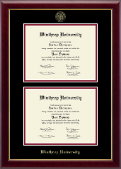 Winthrop University Diploma Frame - Double Diploma Frame in Gallery
