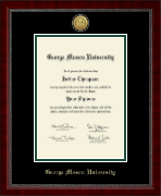 George Mason University Diploma Frame - Gold Engraved Medallion Diploma Frame in Sutton