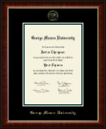 George Mason University Diploma Frame - Gold Embossed Diploma Frame in Murano