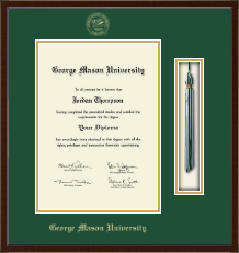 George Mason University Diploma Frame - Tassel Edition Diploma Frame in Delta