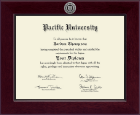 Pacific University Diploma Frame - Century Silver Engraved Diploma Frame in Cordova