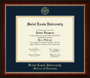 Saint Louis University Diploma Frame - Gold Embossed Diploma Frame in Murano