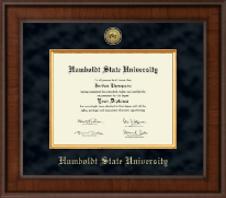Humboldt State University  Diploma Frame - Presidential Gold Engraved Diploma Frame in Madison