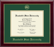 Humboldt State University  Diploma Frame - Gold Embossed Diploma Frame in Gallery