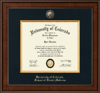 University of Colorado Diploma Frame - Presidential Masterpiece Diploma Frame in Madison