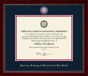 American Academy of Maxillofacial Prosthetics Certificate Frame - Masterpiece Medallion Certificate Frame in Sutton