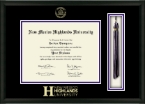 New Mexico Highlands University Diploma Frame - Tassel Edition Diploma Frame in Omega