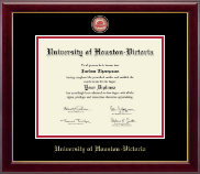 University of Houston - Victoria Diploma Frame - Masterpiece Medallion Diploma Frame in Gallery