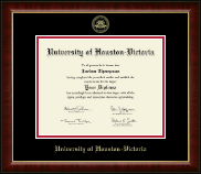 University of Houston - Victoria Diploma Frame - Gold Embossed Diploma Frame in Murano