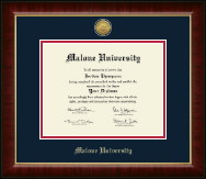 Malone University Diploma Frame - Gold Engraved Medallion Diploma Frame in Murano