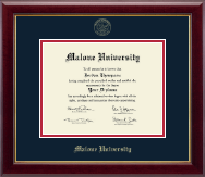Malone University Diploma Frame - Gold Embossed Diploma Frame in Gallery