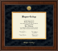 Wagner College Diploma Frame - Presidential Gold Engraved Diploma Frame in Madison