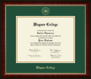 Wagner College Diploma Frame - Gold Embossed Diploma Frame in Murano