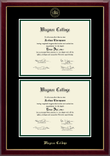 Wagner College Diploma Frame - Double Diploma Frame in Gallery