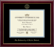 The University of Rhode Island Diploma Frame - Gold Embossed Diploma Frame in Gallery