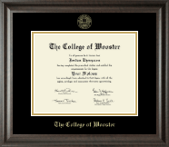 The College of Wooster Diploma Frame - Gold Embossed Diploma Frame in Acadia