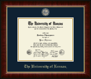 The University of Kansas Diploma Frame - Masterpiece Medallion Diploma Frame in Murano