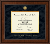 Louisiana State University at Eunice Diploma Frame - Presidential Gold Engraved Diploma Frame in Madison