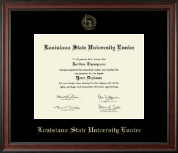 Louisiana State University at Eunice Diploma Frame - Gold Embossed Diploma Frame in Studio