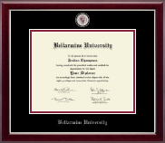 Bellarmine University Diploma Frame - Masterpiece Medallion Diploma Frame in Gallery Silver