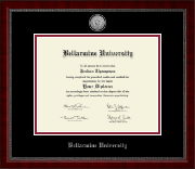 Bellarmine University Diploma Frame - Silver Engraved Medallion Diploma Frame in Sutton
