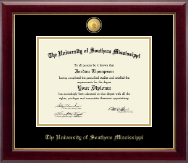 The University of Southern Mississippi Diploma Frame - 23K Medallion Diploma Frame in Gallery
