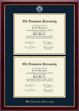 Old Dominion University Diploma Frame - Masterpiece Medallion Double Diploma Frame in Gallery