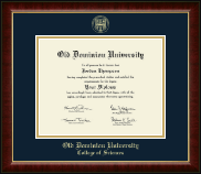 Old Dominion University Diploma Frame - Gold Embossed Diploma Frame in Murano