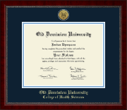 Old Dominion University Diploma Frame - Gold Engraved Medallion Diploma Frame in Sutton