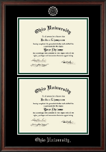 Ohio University Diploma Frame - Double Diploma Frame in Studio