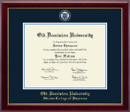 Old Dominion University Diploma Frame - Masterpiece Medallion Diploma Frame in Gallery