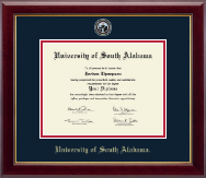 University of South Alabama Diploma Frame - Masterpiece Medallion Diploma Frame in Gallery