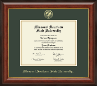 Missouri Southern State University Diploma Frame - Gold Embossed Diploma Frame in Lancaster