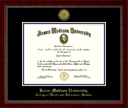 James Madison University Diploma Frame - Gold Engraved Medallion Diploma Frame in Sutton
