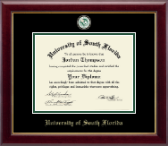 University of South Florida Diploma Frame - Masterpiece Medallion Diploma Frame in Gallery