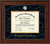 University of South Florida Health Sciences Diploma Frame - Presidential Masterpiece Diploma Frame in Madison