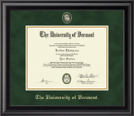 The University of Vermont Diploma Frame - Masterpiece Medallion Diploma Frame in Midnight