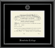 Bowdoin College Diploma Frame - Silver Embossed Diploma Frame in Onyx Silver