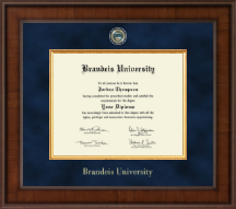 Brandeis University Diploma Frame - Presidential Masterpiece Diploma Frame in Madison