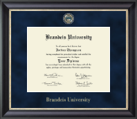 Brandeis University Diploma Frame - Regal Edition Diploma Frame in Noir